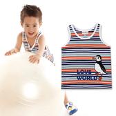 【愛的世界】純棉海鸚鸝橫紋背心/4~8歲-台灣製-  --春夏上著 夏出清