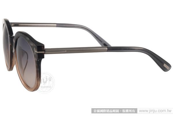 TOM FORD 太陽眼鏡 TOM0435F 20B (漸層黑棕) 經典T字圓框貓眼款 # 金橘眼鏡