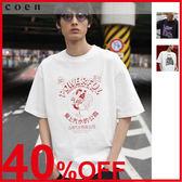 出清 寬版剪裁印刷T恤2 UTILITY LINE 免運費 日本品牌【coen】
