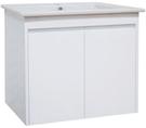 【麗室衛浴】精緻造型 一體瓷盆D-102-4含發泡浴櫃組寬60*46*18