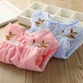 新款秋季新款女童長袖襯衫中長韓版春夏裝兒童條紋上衣寶寶娃娃衫