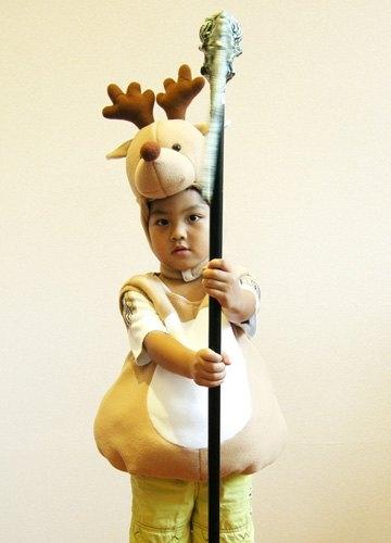 麋鹿蓬蓬裝(附頭套),聖誕麋鹿裝/萬聖節服裝/party/兒童變裝,X射線【W390010】