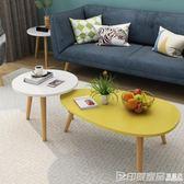 茶幾簡約現代客廳小戶型實木小圓桌子迷你櫸木圓形陽台小茶幾北歐  印象家品旗艦店