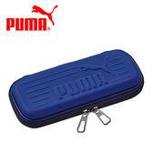 深藍款【日本正版】PUMA 霧面 硬殼筆袋 鉛筆盒 筆盒 掀蓋式筆盒 - 150005