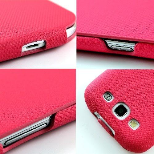 Samsung Galaxy S3 i9300 繽紛馬卡龍(超薄)下掀式/翻蓋式 手機皮套◆贈送!專用型冰沙保護殼◆