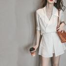 西裝兩件套 夏季洋氣矮個子小香風氣質赫本輕熟風御姐職業兩件套裝女-Ballet朵朵