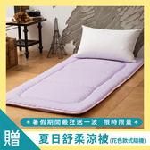 日式床墊;單人3X6尺5cm【Microban輕便床-薰衣紫】美國抗菌表布;LAMINA台灣製