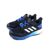 adidas FortaFaito EL K 運動鞋 跑鞋 魔鬼氈 黑色 藍鞋底 童鞋 EE7313 no747