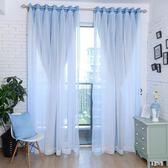 蕾絲窗簾韓式簡約現代蕾絲飄窗臥室全遮光布成品窗紗zzy4641『易購3c館』