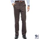 【NST Jeans】秋冬厚款 獵裝式休閒感 咖啡色斜口袋西裝褲(中腰) 390(5582)
