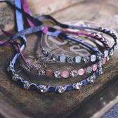 髮飾 女童六一禮服飾品 鑽石髮箍 繫帶 優雅公主髮飾飾品 潮先生