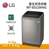 (基本安裝+24期0利率) LG 樂金 12公斤 直立式洗衣機 不鏽鋼 WT-SD129HVG