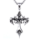 《 QBOX 》FASHION 飾品【C-LHP060】精緻個性經典十字架護身符鑄造鈦鋼墬子項鍊