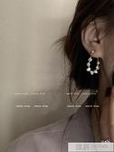【買一送一】 復古巴洛克風 珍珠后掛式耳環2021年新款潮耳飾女耳釘 夏季新品