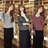 漂亮小媽咪 兩件式 洋裝 【D8122LA】 針織 長袖 毛衣 背心 長裙 背心裙 長洋裝 孕婦裝