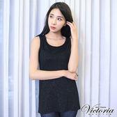 Victoria 領編織肩帶變化背心-女-黑色