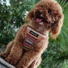 狗牽繩-尼龍繽紛背心型中小型犬寵物胸背帶拉繩3色72ao20【時尚巴黎】