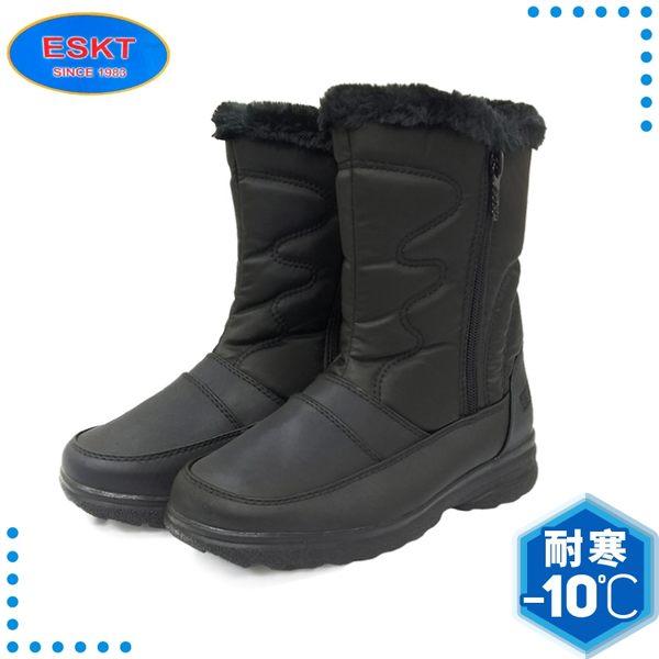 【ESKT 台灣 女 中筒雪鞋《黑》】SN215/雪靴/賞雪必備/冰爪/防滑鞋底