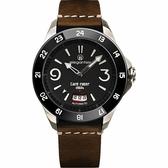 elegantsis x CafeRacer 經典復古機械錶-黑x咖啡