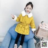 冬季女童大衣 女童外套秋冬洋氣童裝2019新款韓版中大童加厚秋裝兒童中長款大衣 快樂母嬰
