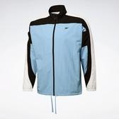 REEBOK LES MILLS® TRACK JACKET 男裝 外套 慢跑 訓練 立領 透氣 藍【運動世界】FM7170