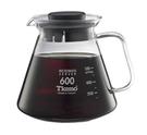Tiamo 咖啡花茶壺(黑蓋) 耐熱玻璃壺 耐熱玻璃咖啡花茶壺 600ml 可微波玻璃壺