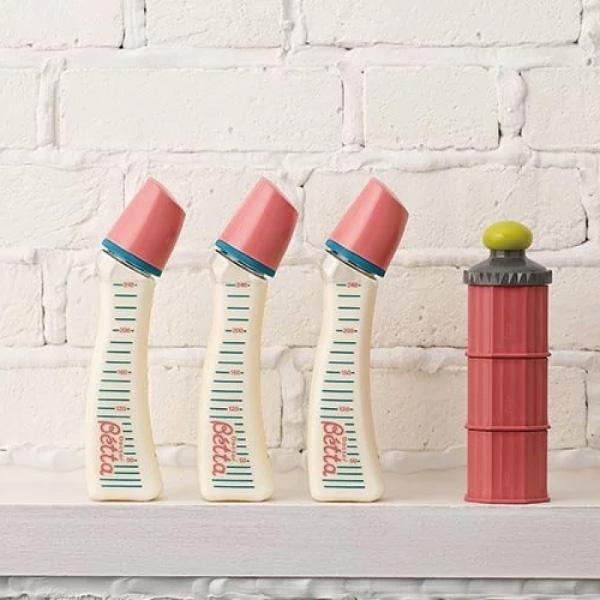 日本 Dr. Betta Castle 三層奶粉收納罐/奶粉盒/奶粉罐(4色可選)【總代理公司貨】
