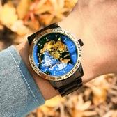 男士手錶 男士手表新款瑞士手表男學生機械表全自動鏤空陀飛輪防水夜光【快速出貨】