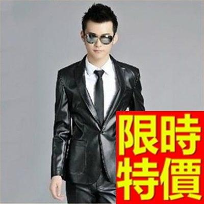 男款西裝外套-非凡優質合身精緻男皮衣外套62i12【巴黎精品】