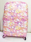 【震撼精品百貨】Hello Kitty 凱蒂貓~硬殼行李箱/旅行箱24吋『快樂派KITTY滿版圖案』