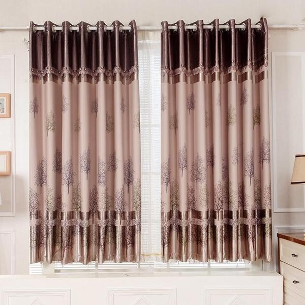 窗簾成品遮光短簾飄窗客廳臥室陽台布料加厚簡約現代特價清倉 【快速】