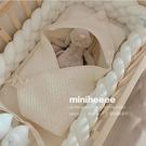 miniheeee 韓國ins麻花打結嬰兒床圍新生兒童防撞圍欄軟包條 幸福第一站