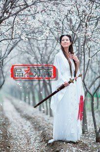 品衣江南/cos神雕俠侶小龍女/純白古裝/GZ073