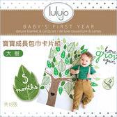 ✿蟲寶寶✿【加拿大Lulujo】風靡歐美媽咪曬寶貝必備~100%純棉 寶寶成長包巾卡片組 大樹