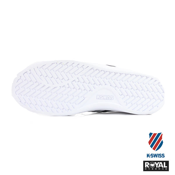 K-SWISS 新竹皇家 HOKE CMP 白色 灰黑條紋 皮質 休閒鞋 男女款 NO.A7318-I6391