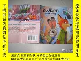 二手書博民逛書店Zootopia罕見Read-Along 瘋狂動物城(故事書+C