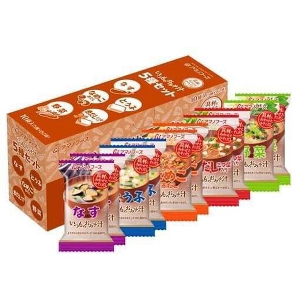 【日本熱賣商品】日本國產天野味增沖泡式湯品X1包 任選五種口味