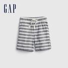 Gap男幼童 亞麻混紡透氣直筒短褲 681550-藍色條紋