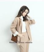 依Baby 西裝套裝新款韓版職業秋小西服洋氣休閒時尚兩件套