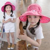 女童帽子夏遮陽帽公主6-8歲防曬遮陽帽夏天小學生新款2017潮公主  酷男精品館