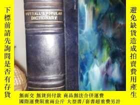 二手書博民逛書店1938年罕見NUTTALL S POPULAR DICTION