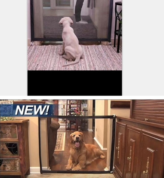 隔離網【SG468】🇹🇼居家安全寵物隔離網 魔術寵物門 狗狗隔離網 便攜折疊式 寵物隔離欄