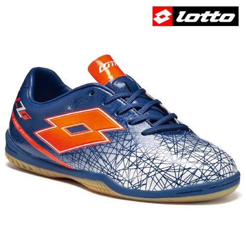 【LOTTO】LZG VIII 700 義大利進口兒童專業足球平地鞋 - 藍紅