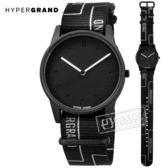 HyperGrand  / NW01GATE / 新加坡品牌 黑白柵門 首創印花設計 極簡面板 尼龍手錶 黑白色 38mm