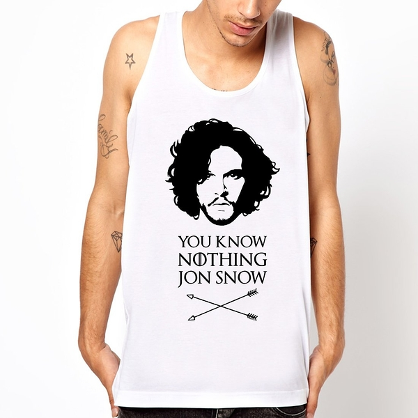 JON SNOW KNOW NOTHING 背心Tank 2色 t 冰與火權力遊戲美劇狼 Game of Thrones