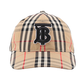 【BURBERRY】Monogram Vintage 格紋棉質棒球帽(典藏米色) S/M/L/XL 號 8038504 A7028