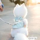 牽引繩 狗狗背心式牽引繩胸背帶中小型犬博美泰迪貓咪透氣遛狗繩寵物衣服