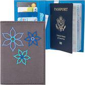 《TRAVELON》Bouquet繡花防護證件護照夾(灰)