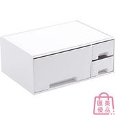 化妝品收納盒桌面整理盒塑料口紅置物架帶抽屜【匯美優品】