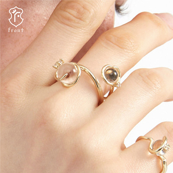 【Front 戒指】梅杜莎天然AA級水晶獨特造型戒指(Medusa-R戒指)